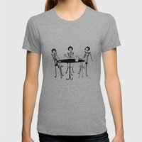 Tea Party Womens Fitted Tee Athletic Grey SMALL