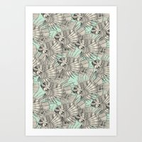 Fish Mirage Mint Art Print
