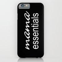 Mama Essentials (black with white) iPhone 6 Slim Case