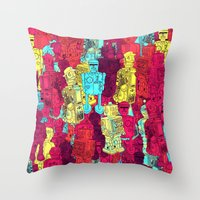 Mr. Robot, your screw is loose. Throw Pillow