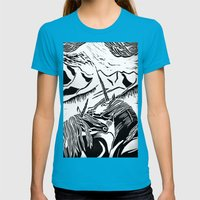 Unicorns Womens Fitted Tee Teal SMALL