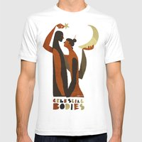 celestial bodies Mens Fitted Tee White SMALL
