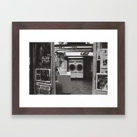 clean laundry Framed Art Print