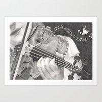 The Note Waltz Art Print