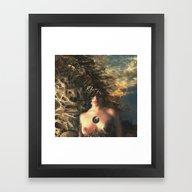 Framed Art Print featuring Gaia by Rowye