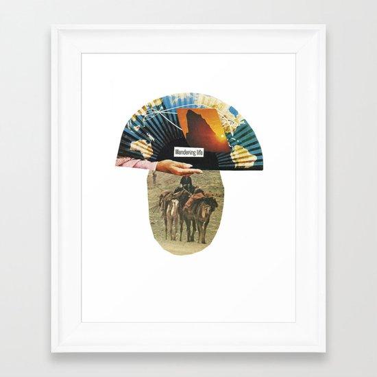 wandering life Framed Art Print