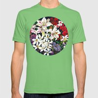 Lilies & Orchids Mens Fitted Tee Grass SMALL