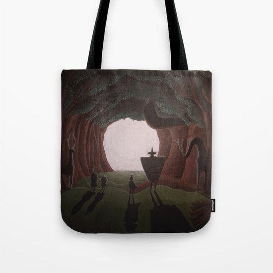 Tunnel in the end of the light. Tote Bag