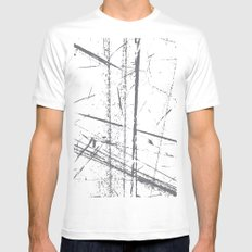 6a White SMALL Mens Fitted Tee