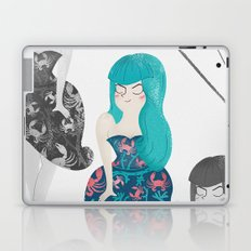RETRO BLUE Laptop & iPad Skin