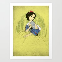 Her Hidden Tattoos Art Print
