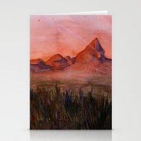 Fictional Landscape I Stationery Cards