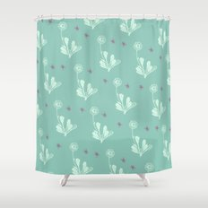 Spider Daisies (pink + G… Shower Curtain