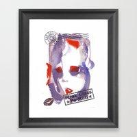 First Class Mail Framed Art Print