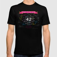 The Answer To The Ultima… Mens Fitted Tee Black SMALL