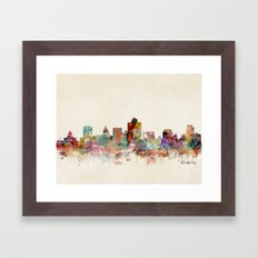 Salt Lake City Utah Framed Art Print