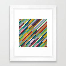 Bricks Rotate 45 Framed Art Print