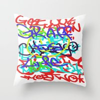 Graffiti Is Life Throw Pillow