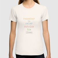 Color outside of the lines Womens Fitted Tee Natural SMALL