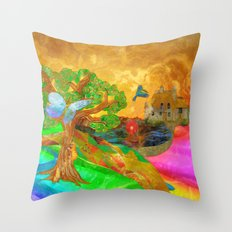 Let color bring you smiles as you walk lifes many miles Throw Pillow