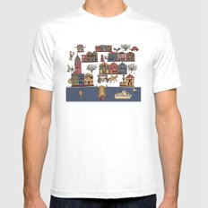 Urban Regeneration White SMALL Mens Fitted Tee