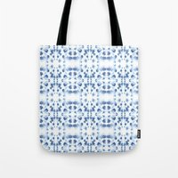 Mirror Dye Blue Tote Bag