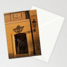 Streetlamp and Shadow, Prague Stationery Cards