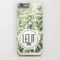iPhone Cases featuring Let It Snow by Olivia Joy StClaire