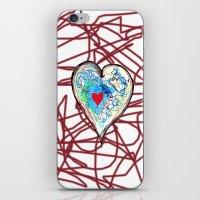 Scribble Heart iPhone & iPod Skin