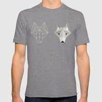 Wolfborg Mens Fitted Tee Tri-Grey SMALL