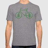 Pacific Northwest Cycling - Bike, Bicycle, Portland, PDX, Seattle, Washington, Oregon, Portlandia Mens Fitted Tee Tri-Grey SMALL