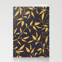 Gold Pattern Stationery Cards