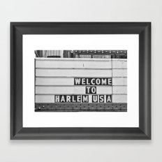 Welcome to Harlem Framed Art Print