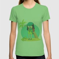 BinnyBoo goes abroad! Womens Fitted Tee Grass SMALL