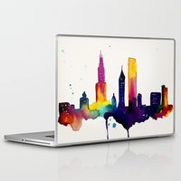 chicago Laptop & iPad Skins featuring Chicago  by Talula Christian