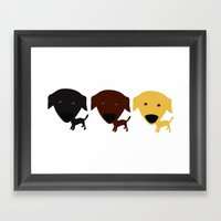 Labrador Retriever Dog Framed Art Print