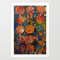 Her 12 Moons Art Print