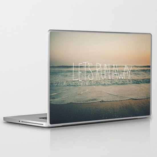 Let's Run Away by Laura Ruth and Leah Flores Laptop & iPad Skin