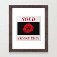 Red Rose Rug TU Framed Art Print