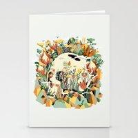 Skull & Fynbos Stationery Cards