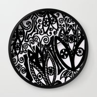 Flowers In The Rain Fore… Wall Clock
