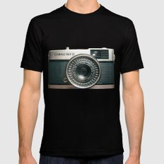 Vintage Black SMALL Mens Fitted Tee