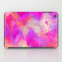 BOLD QUOTATION, Revisited - Intense Raspberry Peachy Pink Vibrant Abstract Watercolor Ikat Pattern iPad Case