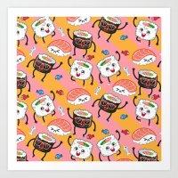 Sushi dance Art Print