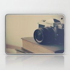 Vintage Nikon Camera and Old Books Laptop & iPad Skin
