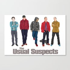 The Usual Suspect casual fashion style Canvas Print