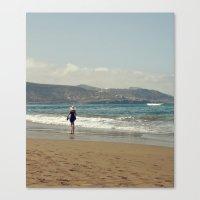 Me & Beach Canvas Print