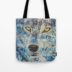 Eyes of The Lone Wolf Tote Bag
