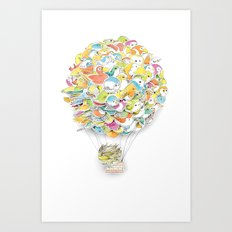 Bird Balloon Art Print