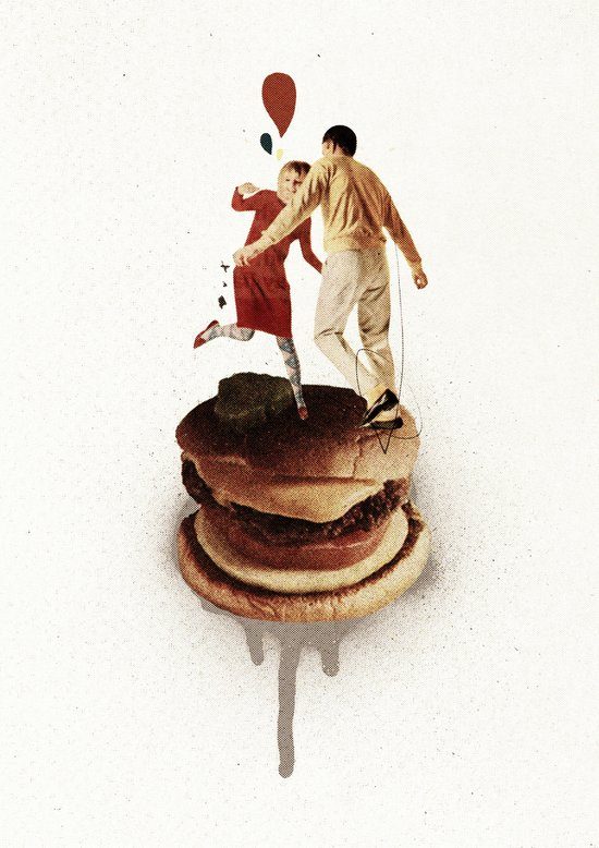 These Burgers Are Crazy II  | Collage Canvas Print